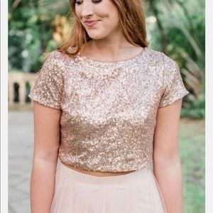 Gold sequins revelry bridesmaid separate